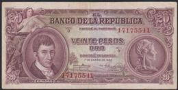Ref. 3902-4339 - BIN COLOMBIA . 1953. COLOMBIA 20 PESOS 1953 - Colombia