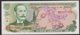 Ref. 3723-4160 - BIN COSTA RICA . 1989. COSTA RICA 5 COLONES 1989 - Costa Rica