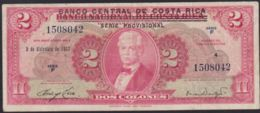 Ref. 3717-4154 - BIN COSTA RICA . 1967. COSTA RICA 2 COLONES 1967 - Costa Rica