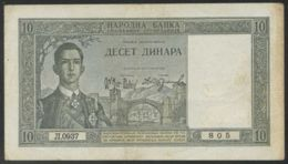 Ref. 3658-4095 - BIN YUGOSLAVIA . 1939. YUGOSLAVIA 10 DINARA 1939 - Yugoslavia