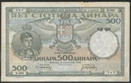 Ref. 3655-4092 - BIN YUGOSLAVIA . 1935. YUGOSLAVIA 500 DINARA 1935 - Yugoslavia