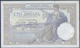 Ref. 3652-4089 - BIN YUGOSLAVIA . 1929. YUGOSLAVIA 100 DINARA 1929 - Yugoslavia