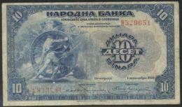 Ref. 3649-4086 - BIN YUGOSLAVIA . 1920. YUGOSLAVIA 10 DINARA 1920 - Yugoslavia