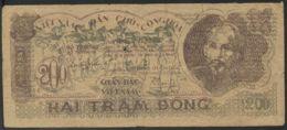Ref. 3548-3985 - BIN NORTH VIETNAM . 1950. VIETNAM 200 DONG 1950. VIETNAM 200 DONG 1950 - Vietnam