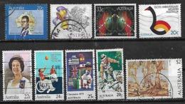 1979-84 Australia Navidad-personajes-pintura-western 9v. - 1980-89 Elizabeth II