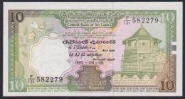 Ref. 3337-3760 - BIN SRI LANKA . 1990. SRI LANKA 10 RUPEES 1990 RUPIAS - Sri Lanka
