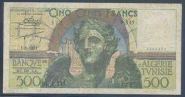 Ref. 3176-3599 - BIN TUNISIA . 1952. TUNISIA 500 FRANCS 1952 - Tunisia