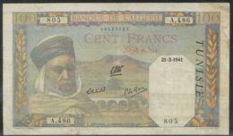 Ref. 3172-3595 - BIN TUNISIA . 1941. TUNISIA 100 FRANCS 1941 - Tunisia