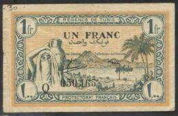 Ref. 3165-3588 - BIN TUNISIA . 1943. TUNISIA 1 FRANC 1943 - Tunisia