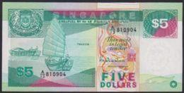 Ref. 3096-3519 - BIN SINGAPORE . 1989. SINGAPORE  5 DOLLARS 1989 - Singapore