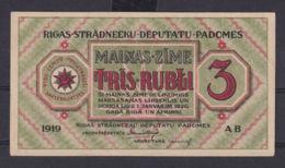 Ref. 3078-3501 - BIN LATVIA . 1919. LATVIA 3 RUBLI 1919 - Latvia