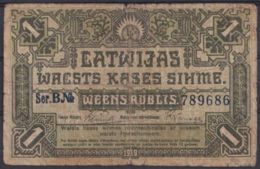 Ref. 3063-3486 - BIN LATVIA . 1919. LATVIA 1 RUBLIS 1919 - Latvia