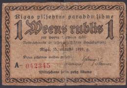Ref. 3061-3484 - BIN LATVIA . 1919. LATVIA 1 MEENS RUBLIS 1919 - Latvia