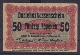 Ref. 3053-3476 - BIN LITHUANIA . 1916. GERMANY OCCUPATION LITHUANIA 50 KOPEKEN 1916 - Lituania