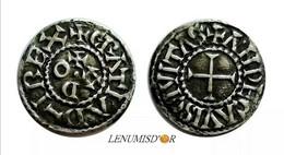 EUDES Denier Angers - 751-987 Monnaies Carolingiennes