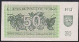 Ref. 2924-3347 - BIN LITHUANIA . 1992. LITHUANIA 50 TALONAS 1992 - Lituania