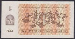Ref. 2917-3340 - BIN LITHUANIA . 1992. LITHUANIA 1 TALONAS 1992 - Lituania