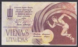 Ref. 2911-3334 - BIN LITHUANIA . 1991. LITHUANIA 1 LITAURU 1991 OLIMPIC - Lituania