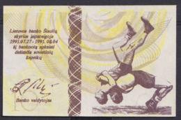 Ref. 2910-3333 - BIN LITHUANIA . 1991. LITUANIA LITHUANIA 10 CENTAURU DESIMT 1991  OLIMPIC GAMES - Lituania