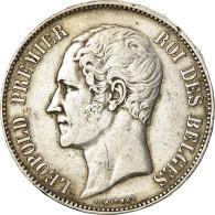 Monnaie, Belgique, Leopold I, 5 Francs, 5 Frank, 1865, TB+, Argent, KM:17 - 11. 5 Francos