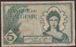 Ref. 2738-3161 - BIN ALGERIA . 1942. ALGERIE 5  FRANCS 1942 - Algeria