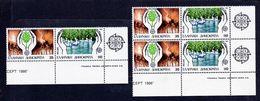 1986 Grecia Greece EUROPA CEPT EUROPE 3 Serie Di 2v. MNH** (coppie) NATURA NATURE - 1986