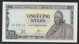 Ref. 2704-3127 - BIN GUINEA . 1971. GUINEE 25 SYLIS 1971 - Guinea