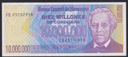 Ref. 2239-2662 - BIN NICARAGUA . 1990. NICARAGUA 10000000 CORDOBAS 1990 DIEZ MILLONES - Nicaragua