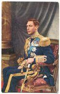 His Majesty King GEORGE VI - Sa Majesté Roi George VI Assis Dans Fauteuil Avec Son épée Et Décorations Médailles - Royal Families