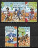 1980 Australia Campo Fauna Caballos Oveja 5v. Serie Completa - 1980-89 Elizabeth II
