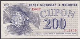 Ref. 1927-2350 - BIN MOLDOVA . 2020. MOLDAVIA 200 CUPON 1992 - Moldova