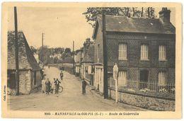CPA MANNEVILLE LA GOUPIL - Route De Goderville - Coll. Lebrun N°2560 - Ed. E. Mellet - Frankreich