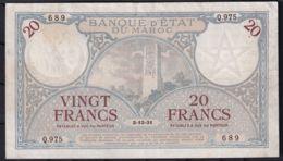 Ref. 1785-2208 - BIN MOROCCO . 1931. MAROC 20 FRANCS MAROC 1931 - Marocco