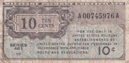 Ref. 1632-2055 - BIN UNITED STATES . 1946. USA 10 CENT MILITARY PAYMENT CERTIFICATE 1946 - 1947 SERIES 461 - Estados Unidos