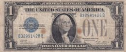 Ref. 1613-2036 - BIN UNITED STATES . 1928. 1928 $1 SILVER CERTIFICATE ONE DOLLAR CURRENCY FUNNY BACK - Silver Certificates - Títulos Plata (1878-1923)