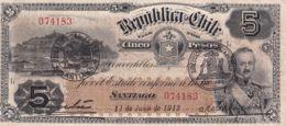 Ref. 1509-1931 - BIN CHILE . 1912. CHILE 5  PESOS 1912 - Chile