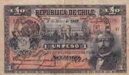 Ref. 1507-1929 - BIN CHILE . 1906. CHILE 1 PESO 1906 - Chile