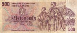 Ref. 1498-1920 - BIN CZECHOSLOVAKIA . 1973. 500 CZECHOSLOVAK KORUN BANKNOTE 1973 - Tsjechoslowakije