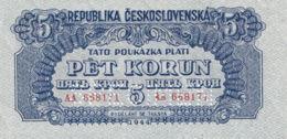 Ref. 1460-1882 - BIN CZECHOSLOVAKIA . 1944. CZECHOSLOVAKIA 5 KORUN 1944 SPECIMEN - Czechoslovakia