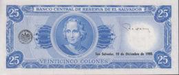 Ref. 1334-1756 - BIN EL SALVADOR . 1980. EL SALVADOR 25 COLONES 1980 - Salvador