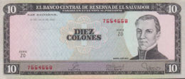 Ref. 1331-1753 - BIN EL SALVADOR . 1980. EL SALVADOR 10 COLONES 1980 - Salvador