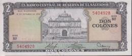 Ref. 1325-1747 - BIN EL SALVADOR . 1974. EL SALVADOR 2 COLONES 1974 - Salvador