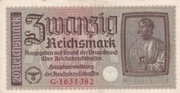 Ref. 1087-1509 - BIN GERMANY . 2019. GERMANY 20 REICHSMARK DEUTSCHE WEHRMACHT 1939 - [ 7] 1949-… : RFA - Rep. Fed. De Alemania