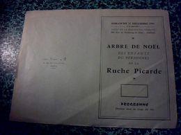 """Vieux Papier Programme De L' Arbre De Noël De La Ruche Picarde """" Chés Cabotans D'Amiens """" Matinée Patoisante 1959 AMIENS - Programas"""