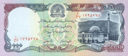 Ref. 930-1352 - BIN AFGHANISTAN . 1993. AFGANISTAN AFGHANISTAN 5000 AFGHANIS 1993 PICK 62 SC UNC - Afghanistan