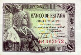 Ref. 111-399 - BIN SPAIN . 1945. 1 Peseta Estado Espa�ol 15 De Junio De 1945. 1 Peseta Estado Espa�ol 15 De Junio De 194 - 1-2 Pesetas