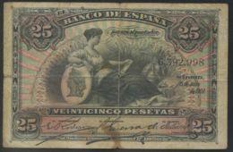 Ref. 99-3874 - BIN SPAIN . 1907. 25 Pesetas Alfonso XIII Emisi�n 15 Julio 1907. 25 Pesetas Alfonso XIII Emisi�n 15 Julio - [ 1] …-1931 : Eerste Biljeten (Banco De España)
