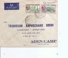 Ethiopie ( Lettre Par Avion De 1957 De AddisAbeba Vers Aden à Voir) - Ethiopie