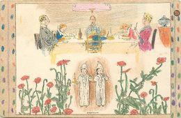 Themes Div-ref EE934 -illustrateurs -illustrateur- Carte A Colorier ; Coloriée- Le Repas - Bonsoir - - Unclassified