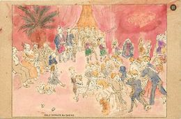 Themes Div-ref EE933 -illustrateurs -illustrateur- Carte A Colorier ; Coloriée- Bals D Enfants Au Casino - - Unclassified